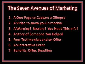 The Seven Avenues of Marketing